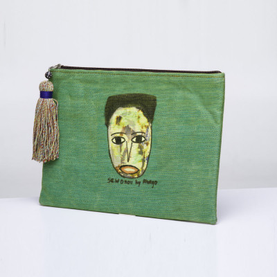 Anago clutch bag Afro