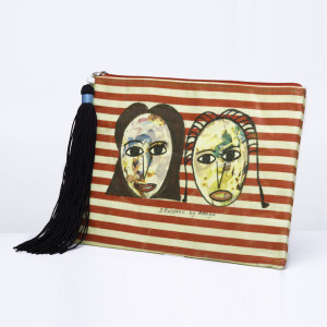 Anago Clutch bag stripy