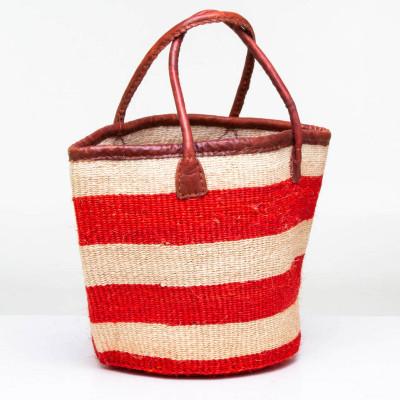 Obatala Red Stripes Sisal Basket