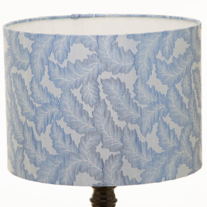 Blue Leaves Fabric Lampshade by Obatala