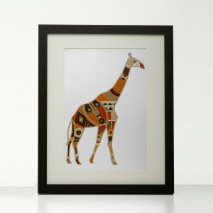Earth tone Giraffe print by Obatala