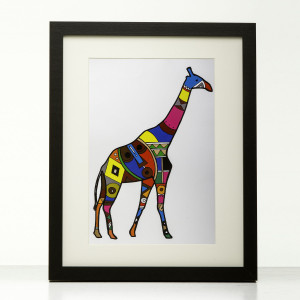 Pop Colours Giraffe print by Obatala