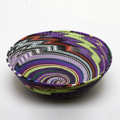 Large Wire Basket purple Spiral