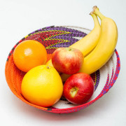 Telephone Wire basket with fruits