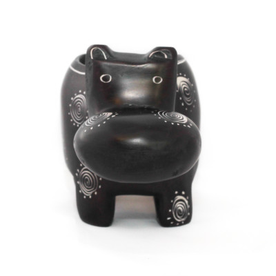 Obatala Black Hippo Tea Light holder