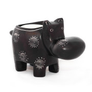 obatala black hippo tea light from the side