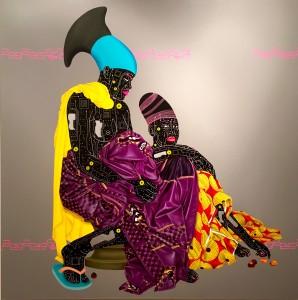Painting by Eddy Kamuanga