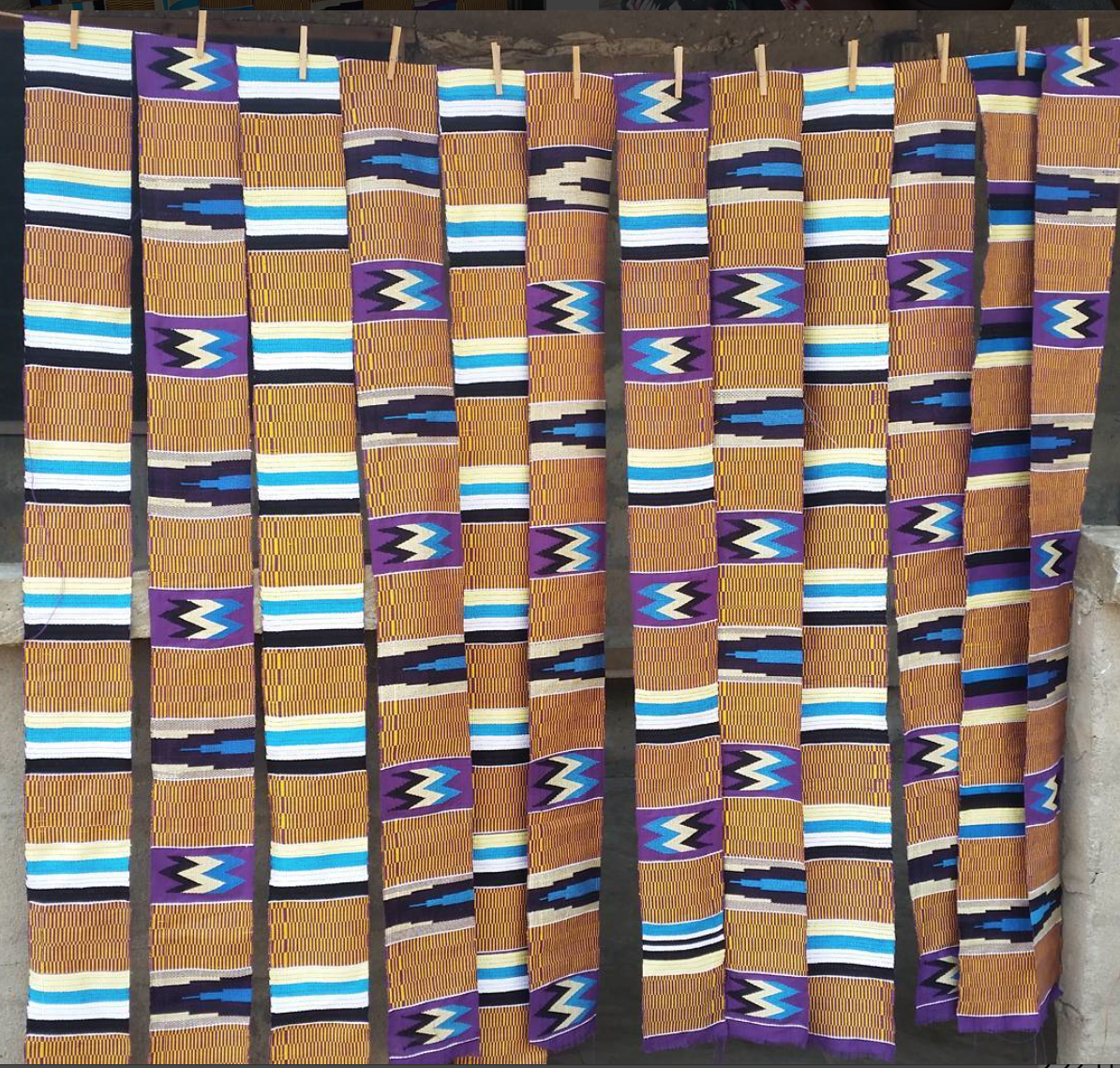 Kente difficult Pattern in the making