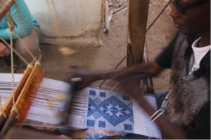 Manjak Textile being woven in Senegal