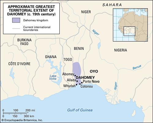 Kingdom of Dahomey. Source Encyclopædia Britannica