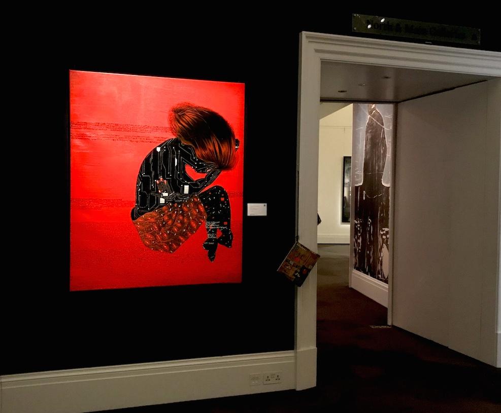 Painting by Eddy Kamuanga Ilunga, Solutide, 2014