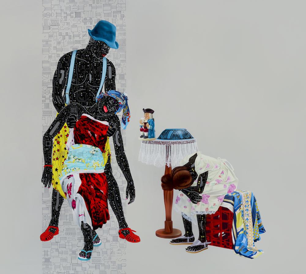 Painting Fragile 3, Eddy Kamuanga Illunga, 2018.