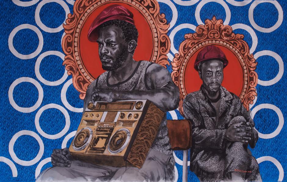 Painting Sounds of Hope, Bambo Sibiya, 2018