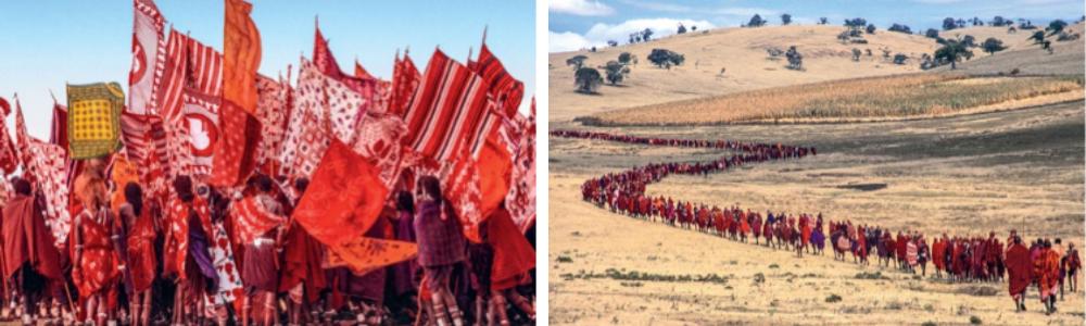 Salaei Maasai Warrior Procession, Tanzania, African Twilight, Carol Beckwith & Angela Fisher