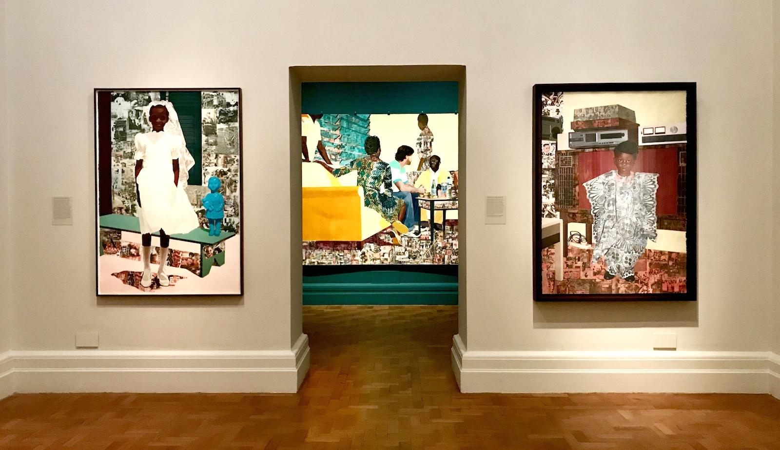 Njideka Akunyili Crosby's exhibition The Beautyful Ones