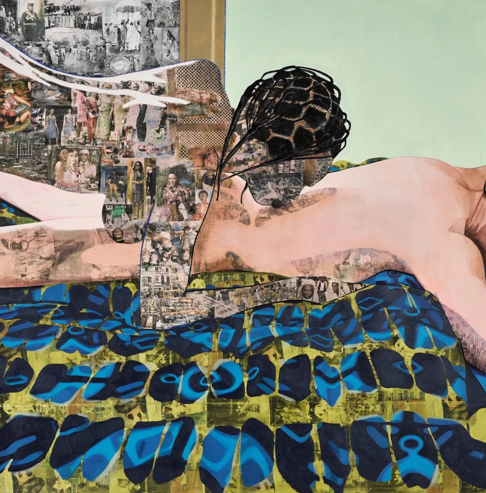 Njideka Akunyili Crosby, Thread, 2012, Screenshot of Sotheby's New York Catalogue, Auction May 2017