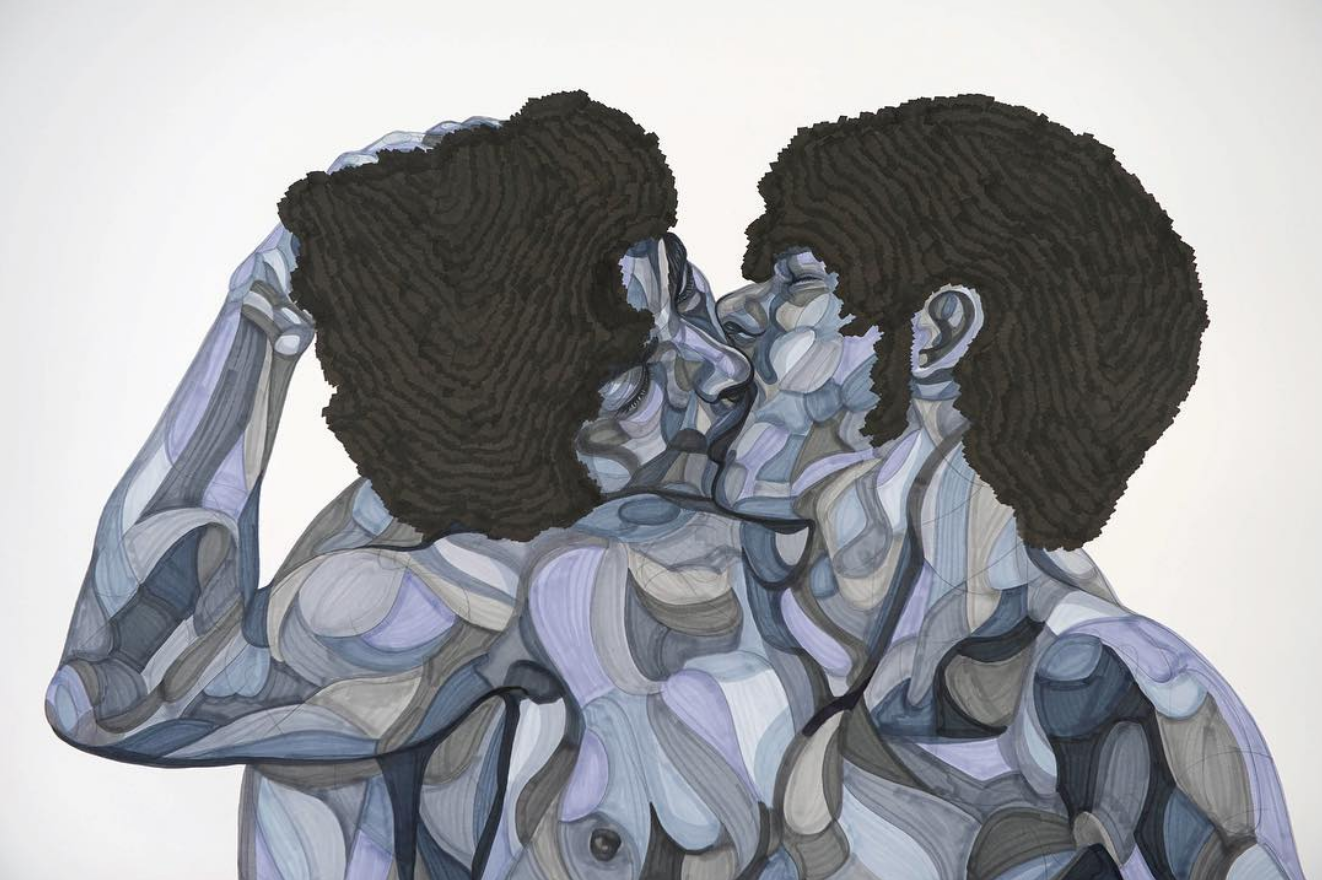 Toyin Ojih Odutola, detail of The Flavor and the Intent,