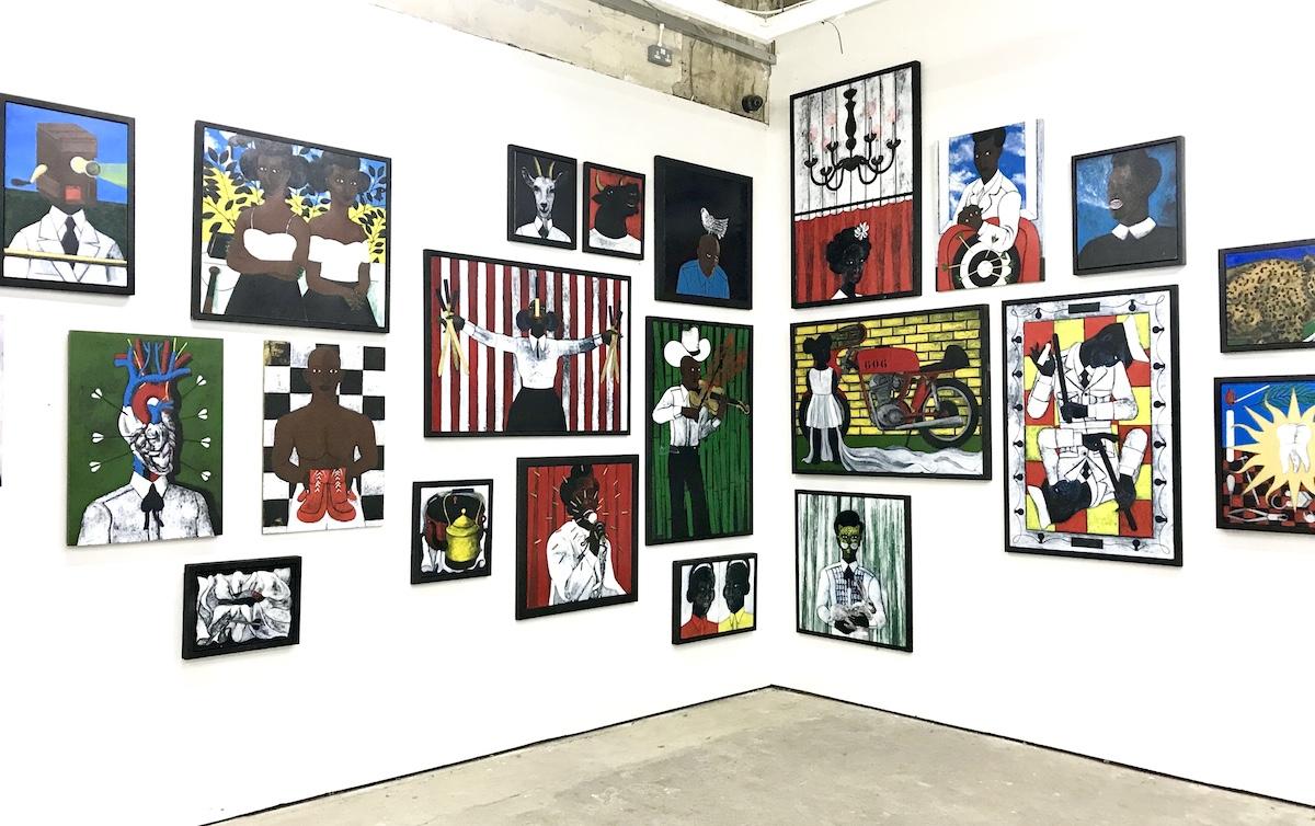 Abe Odedina, Birds of Paradise, Installation view