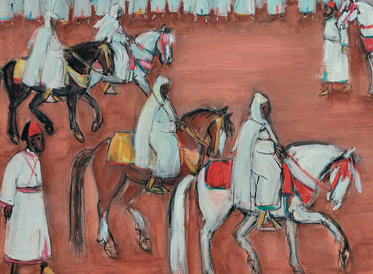 Hassan El Glaoui, Details La Sortie Du Roi