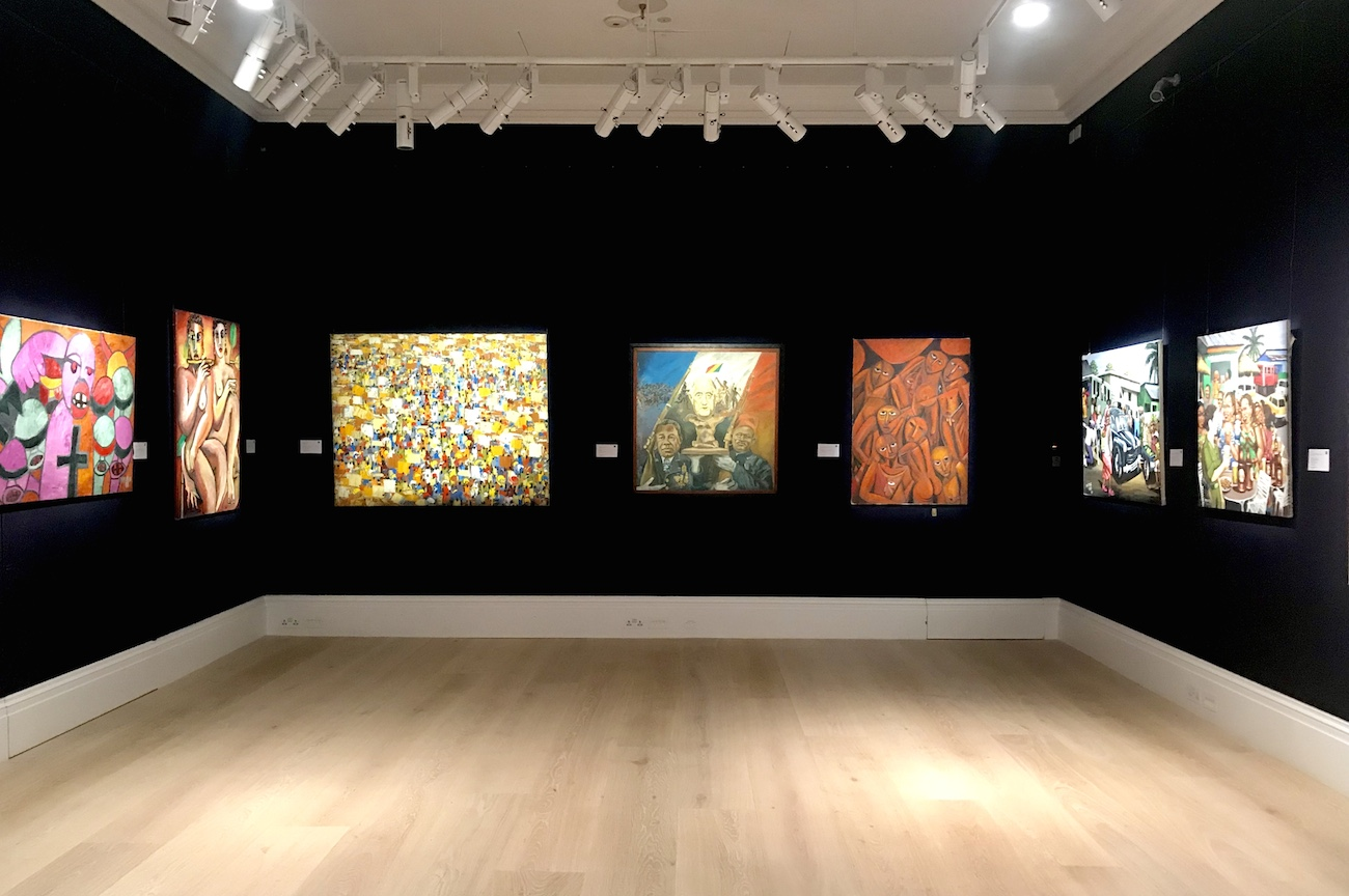 Sotheby's Installation view of Modern and Contemporary African Art March 2019
