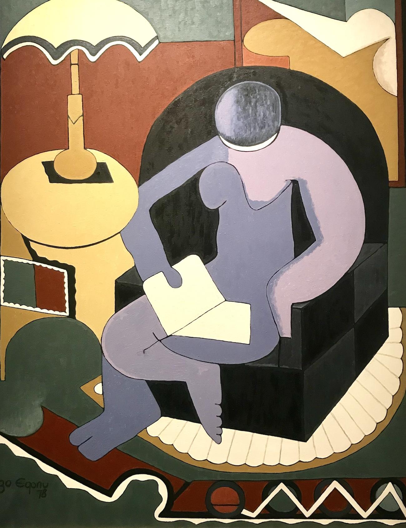 Uzo Egonu, Woman Reading, 1978
