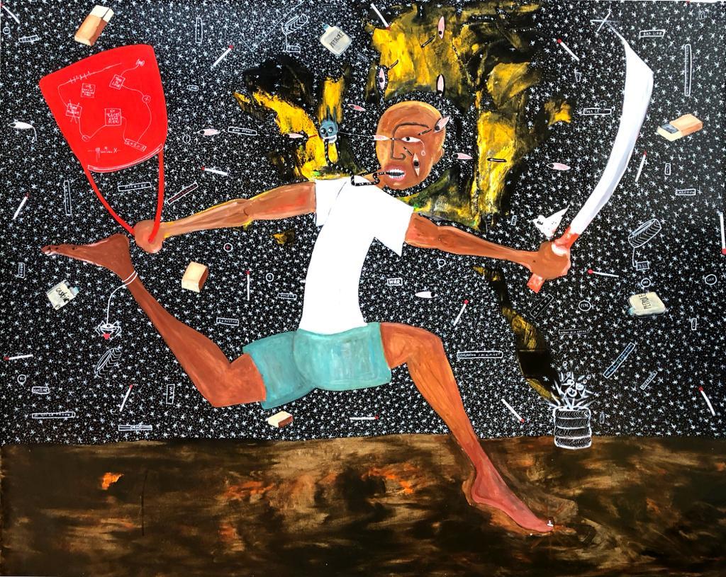 Henri Abraham Univers, Microbe (Petit Voleur 2019), Retro Africa