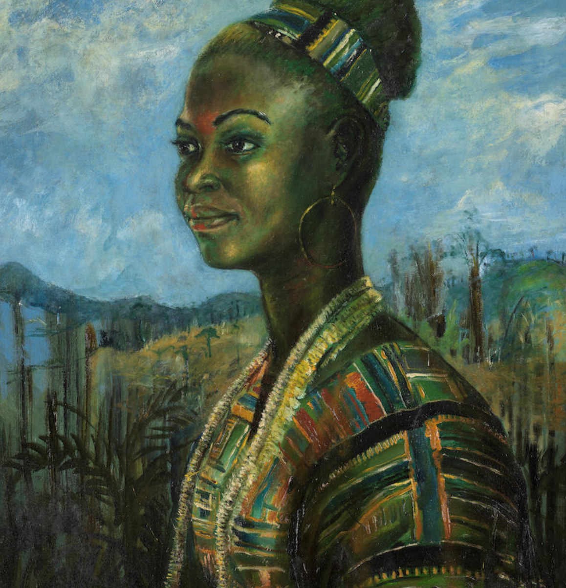 Ben Enwonwu, Portrait of Marianne, 1972. Modern & Contemporary African Art Auction at Bonhams