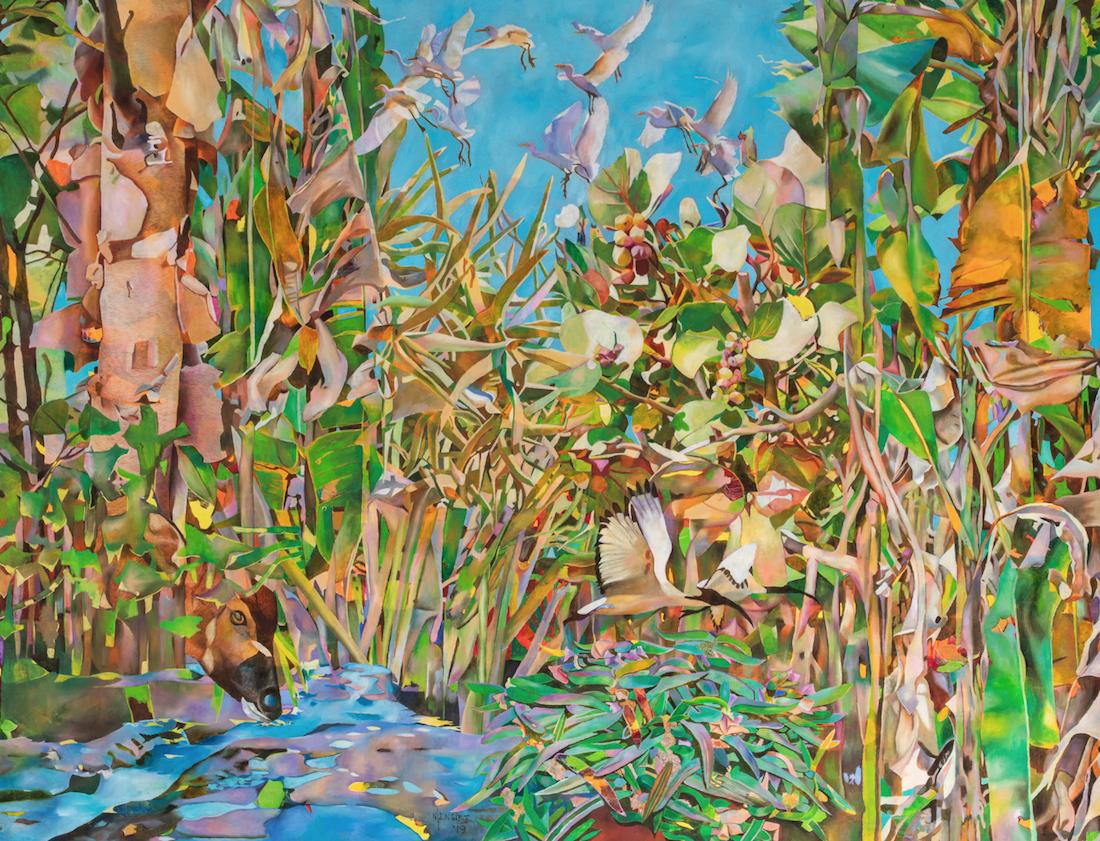 Joseph Ntensibe, Tropical garden 2, 2019