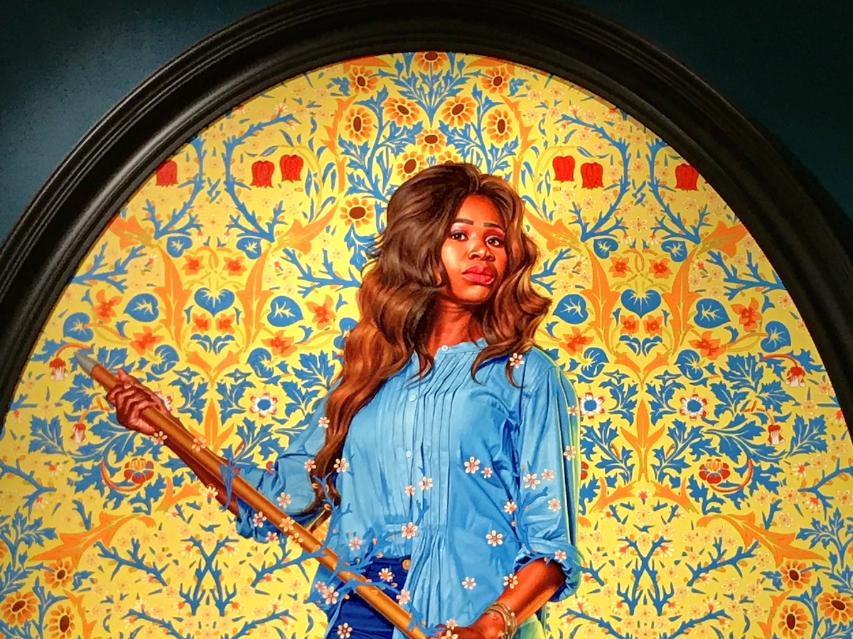 Kehinde Wiley, Portrait of Dorinda Essah, 2020, The Yellow Wallpaper.