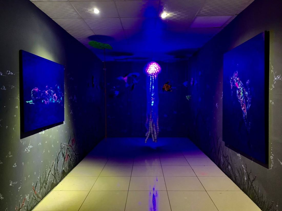 Arnold Fokam, Installation View AquariHomme at Goethe Institute in Yaoundé