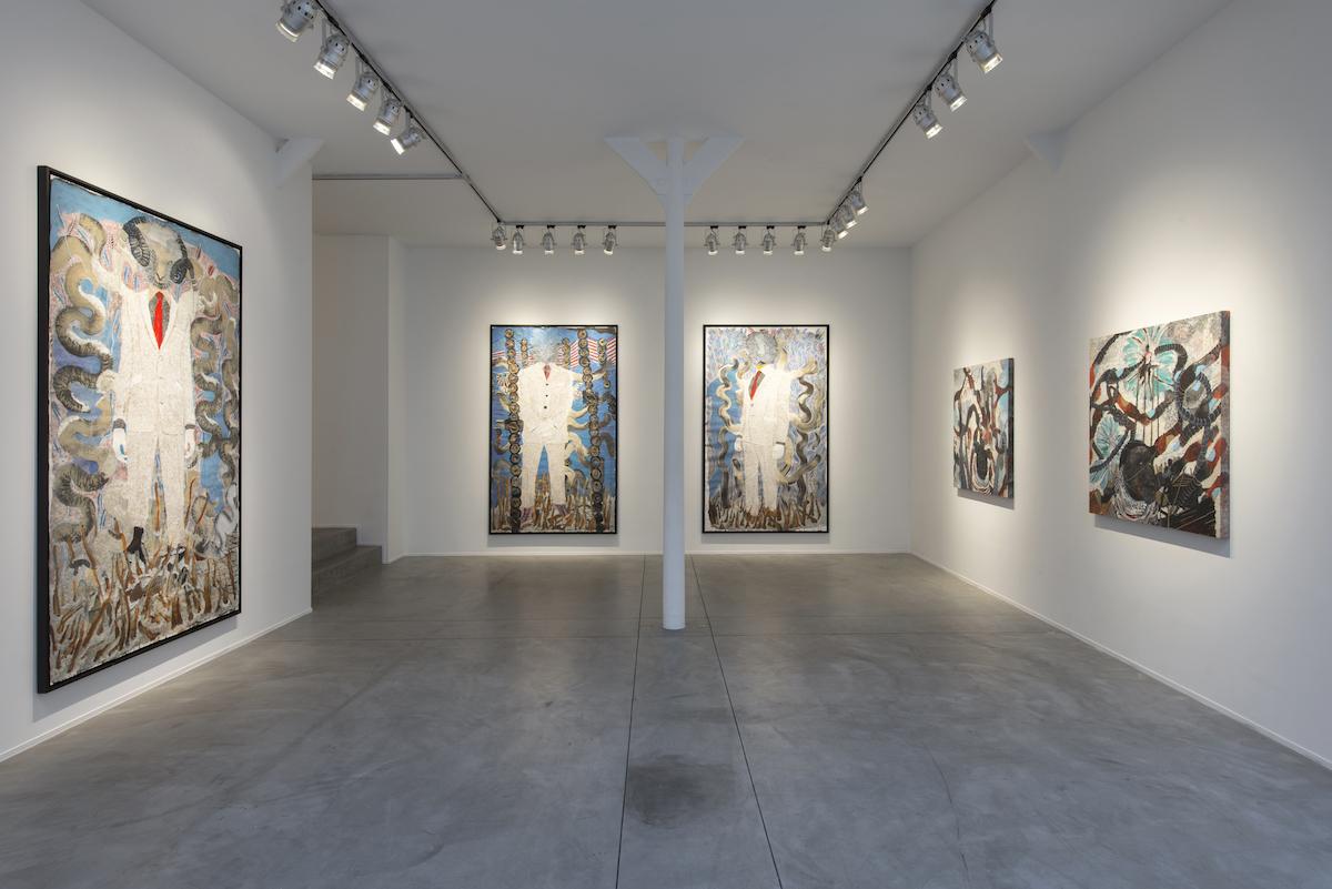 Omar Ba, Anomalies, Installed view, gallery Templon