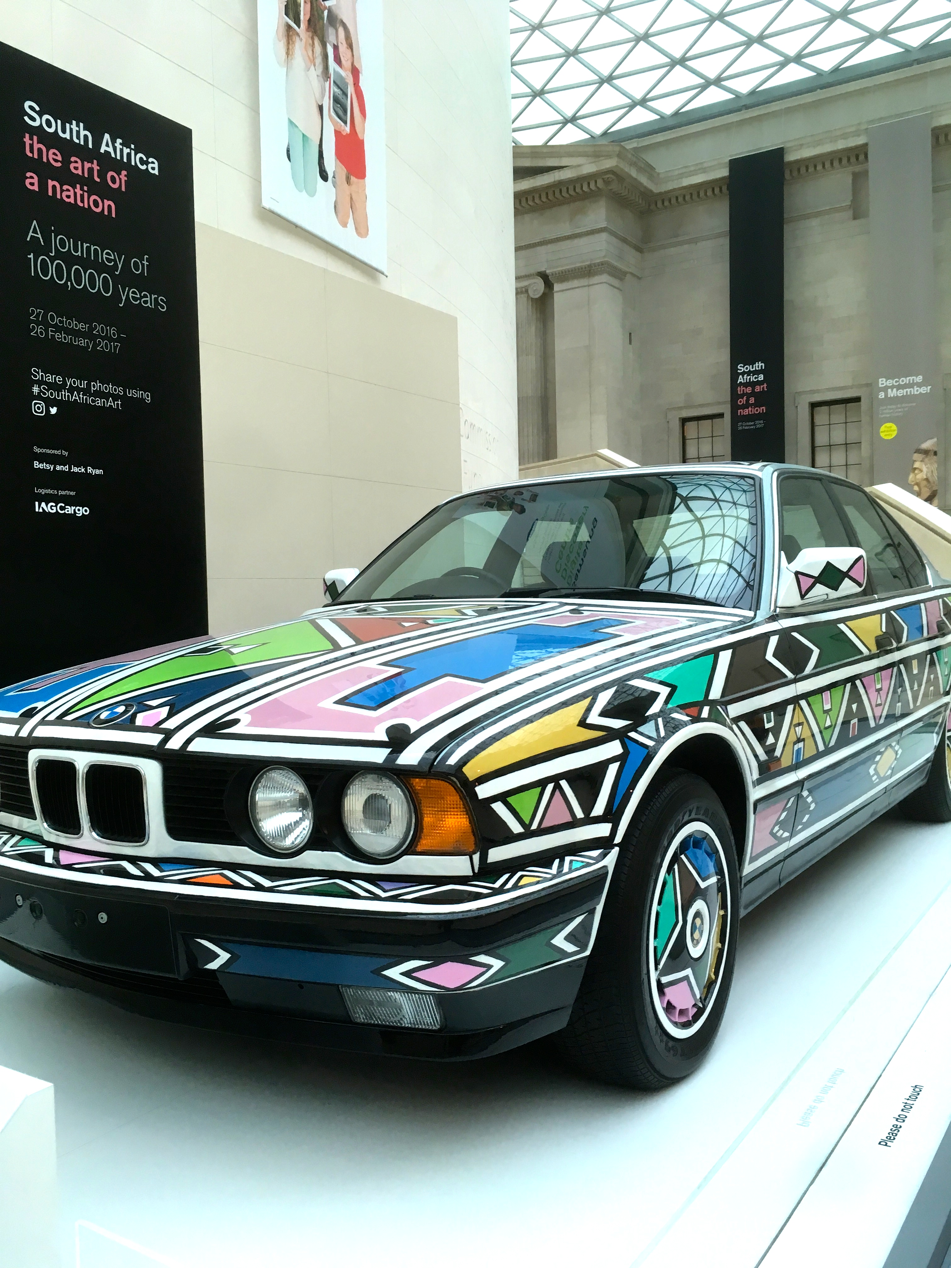 Car transformed into Ndebele Art